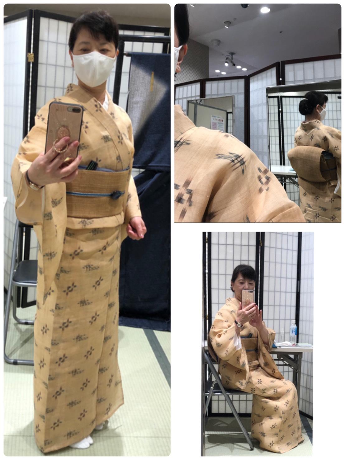 夏のお着物は暑い……⁉️ 神戸六甲のお手軽着付け教室です✨
